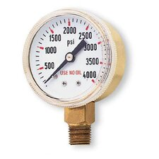 "1/2"" X 4000 PSI Brass Replacement Regulator Gauge"