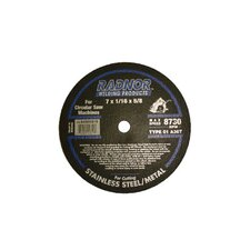 "X 1/16"" X 5/8"" A36T Aluminum Oxide Type 1 Reinforced Cut Off Wheel For Use With Circular Saw On Stainless Steel And Metal"