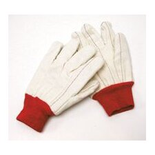 18 Ounce Cotton/Poly Blend Glove With Double Palm, Nap-In And Knitwrist