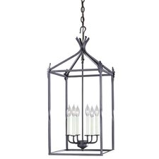 Iron 6 Light Hanging Lantern