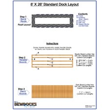 "96"" x 312"" Standard Dock Layout"