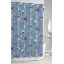 Bambini Race Track Cotton Shower Curtain