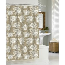 Shells - Cortina Cotton Shower Curtain