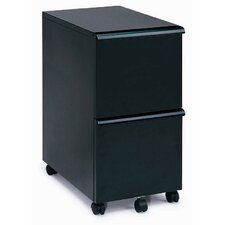 MP-05 Mobile Double File Cabinet in Black