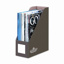 Decorative magazine file, 1 pocket, 4w x 9d x 11 1/2h, mocha brown