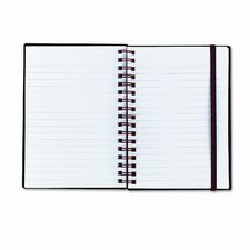 Poly Twinwire Notebook, Ruled, 5-7/8 x 4-1/8, White, 70 Sheets/Pad