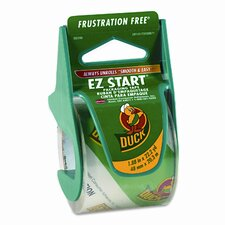 "EZ Start Carton Sealing Tape/Dispenser, 1-7/8"" x 22 Yards, 1-1/2"" Core"