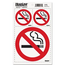Self-Stick No Smoking Combo Decal