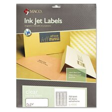 Matte Clear Address Labels, 1 x 2 5/8, 750/Pack
