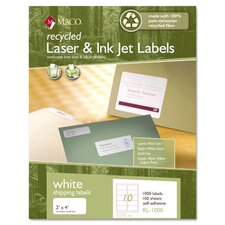 Recycled Laser and Inkjet Labels (Pack of 1000)