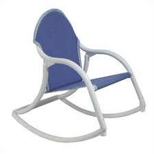 Denim Canvas Rocking Chair
