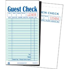Duplicate Carbon Guest Check Book