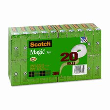 "Magic Office Tape Value Pack, 3/4"" x 28 Yards, 1"" Core, Clear"