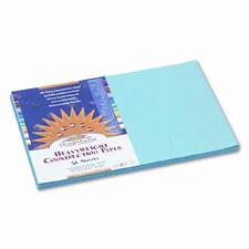 SunWorks Construction Paper, Heavyweight, 12 x 18, Sky Blue, 50 Sheets