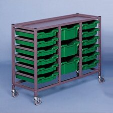 Triple Column Mobile Storage Cart