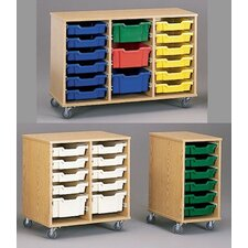 Encore Mobile Tray Cart with Locking Doors