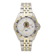 NHL Men's All Star Bracelet Watch with Team Logo Dial