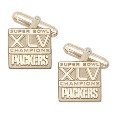 XLV Super Bowl Championship Packers Cuff Links in 10k Gold