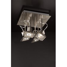 "Square 8"" Semi Flush Mount"