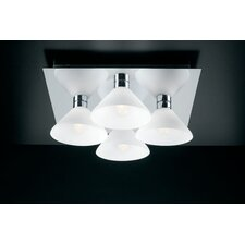 Matrix 4 Light Semi Flush Mount