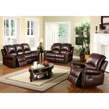 Sedona Reclining Italian Leather Set