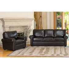 Bliss Leather Sofa and Chair Set