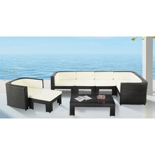 Libu Patio 8 Piece Deep Seating Group with Cushion