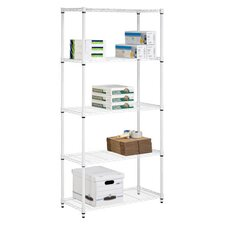 Five Tier Urban Storage Shelves in White