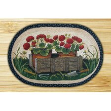Potted Geranium Novelty Rug
