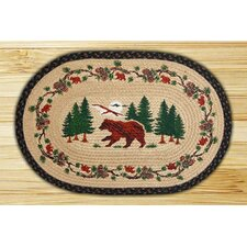 Bear Woods Novelty Rug