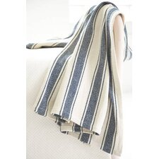 Awning Stripe Woven Cotton Throw