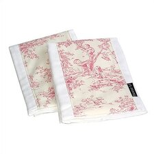 Pink Toile Burp Cloth Set