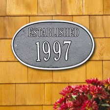 Date 'Established' Standard Plaque