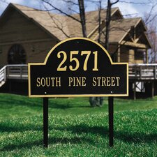 Arch Marker Estate Address Sign