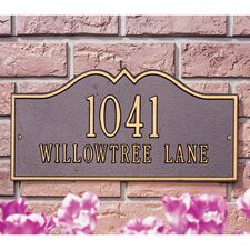 Hillsboro Standard Address Plaque