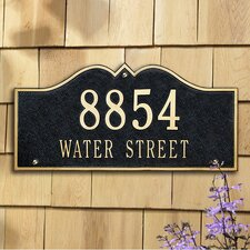 Hillsboro Estate Address Plaque