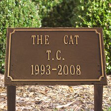 Pet Memorial Lawn Plaque