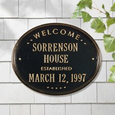 Welcome 'House' Garden Plaque