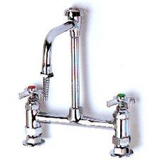 Ledge Mixing Single Hole Faucets with Standard Gooseneck Swivel Spout