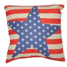 Stars and Stripes Linen Pillow