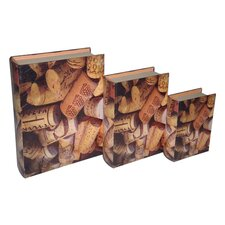 Cork Book Box (Set of 3)