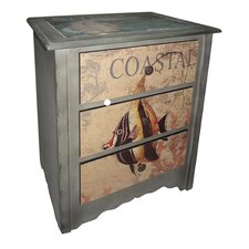 3 Drawer Coastal Cabinet