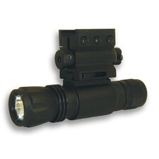 Red Laser Sight with Weaver Mount and Led Flashlight with Quick Release Combo
