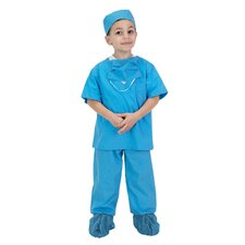 Jr. Dr. Scrubs Costume in Bue