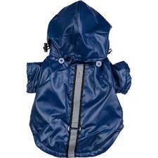 All Weather Casual Dog Windbreaker with Removable Hood in Dark Blue