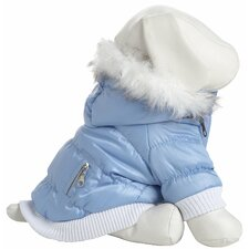 Metallic Fashion Dog Parka with Removable Hood