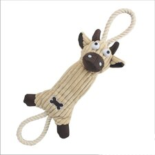 Jute and Rope Plush Cow Dog Toy