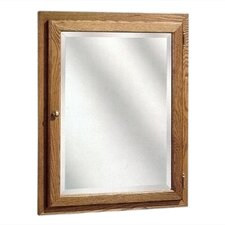"Bostonian Series 24"" x 30"" Red Oak Surface Mount or Recessed Medicine Cabinet in Honey Oak Finish"