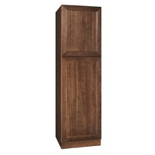 "San Remo Series 84"" x 24"" x 21"" Black Walnut Tall Linen Cabinet in Chestnut Finish"