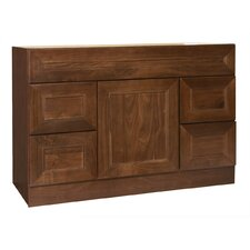 "San Remo Series 48"" Black Walnut Bathroom Vanity Base"